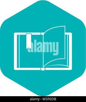 Open book icon, simple style - Stock Image