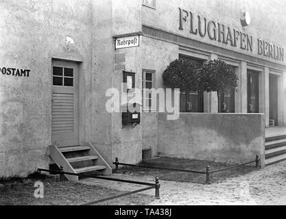 Post office at the airport Berlin-Tempelhof. - Stock Image