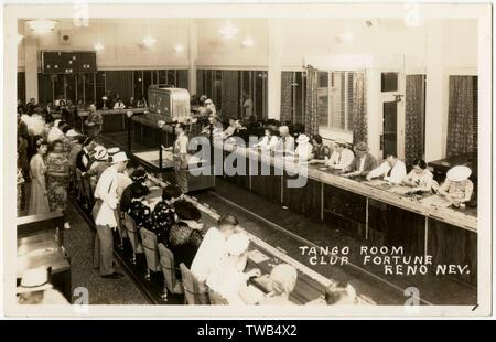 Tango Room, Club Fortune, East Second Street, Reno, Nevada, USA.      Date: circa 1938 - Stock Image
