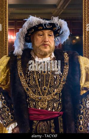 Henry VIII wax figure, Warwick Castle, Warwick, UK - Stock Image