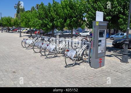 Self hire bicycles, Nauplion, Greece - Stock Image