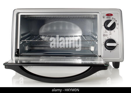 Front of toaster oven - Stock Image