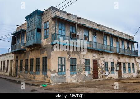 Old traditional houses in Al Wadj, Saudi Arabia, Middle East - Stock Image