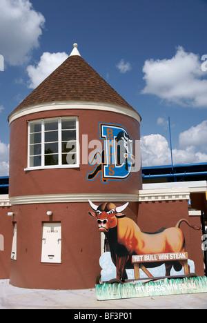 Durham NC North Carolina. Durham Bulls old ballpark. - Stock Image