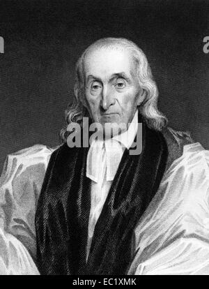 William White (1748-1836) on engraving from 1834. Bishop of Pennsylvania. - Stock Image