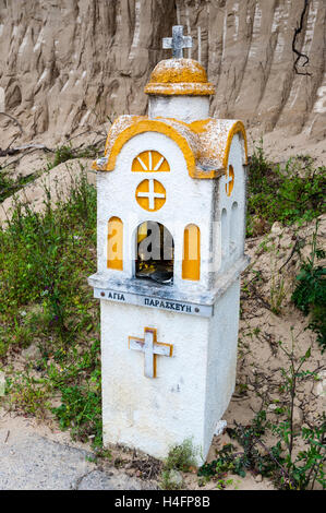 Olympia, Greece. A roadside shrine close to the ruins. - Stock Image