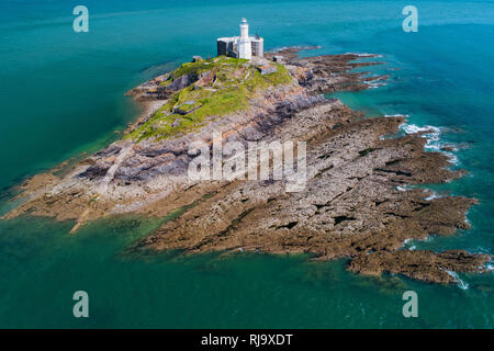 Mumbles Head Lighthouse, Wales - Stock Image