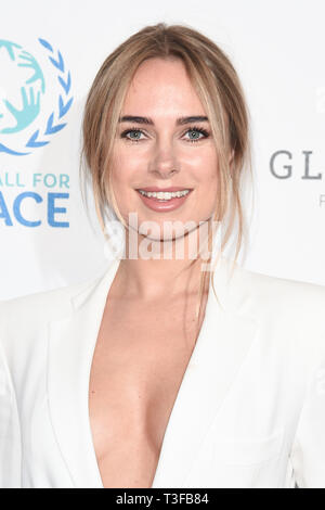London, UK. 08th Apr, 2019. LONDON, UK. April 08, 2019: Kimberley Garner arriving for the Football for Peace initiative dinner by Global Gift Foundation at the Corinthia Hotel, London. Picture: Steve Vas/Featureflash Credit: Paul Smith/Alamy Live News - Stock Image