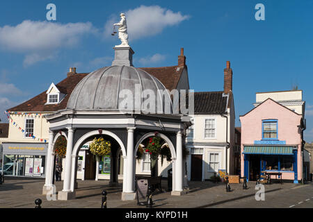 Bungay's famous Buttercross situated in the Town's Market Place, Bungay, Suffolk, England, UK - Stock Image
