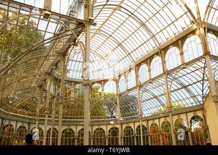 crystal palace in retiro park - Stock Image