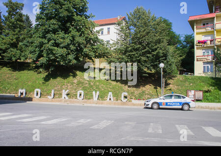 The Police car in Mojkovac city in northern Montenegro, August 31, 2018. (CTK Photo/Libor Sojka) - Stock Image