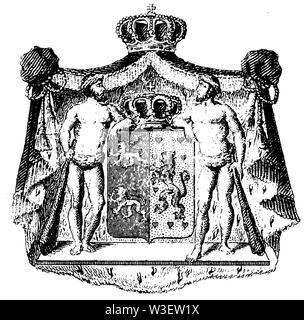 Coat of arms: Austria, ,  (cultural history book, 1875) - Stock Image