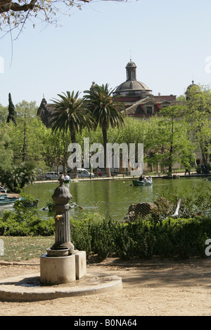 Boating Lake, Parc de la Ciutadella, Barcelona, Spain - Stock Image