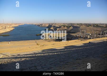Aswan High Dam, Egypt, North Africa - Stock Image