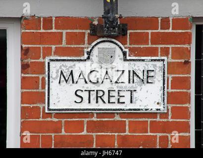 Magazine St,Londonderry city Northern Ireland - Stock Image
