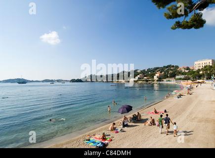 Beaulieu sur Mer, the beach, South of France - Stock Image