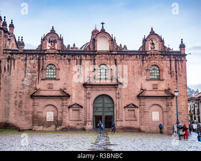 Cusco, Peru - January 6, 2017. Side view of the Cusco Cathedral located in the Plaza de Armas of the city is known as Triunfo temple - Stock Image