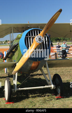 SPAD XIII Replica airplane. NX103JH. N103JH. World War 1 Dawn Patrol Anniversary Rendezvous event. The National Museum of the United States Air Force, - Stock Image