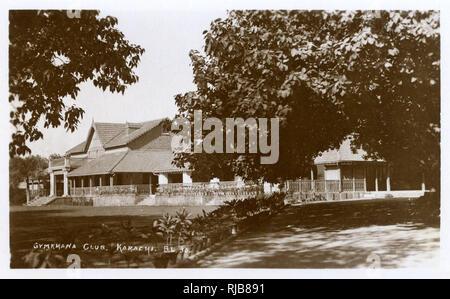 Gymkhana Club, an officers' club in Karachi, British India. - Stock Image