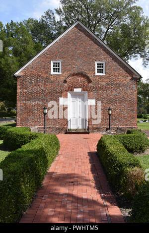 St. Thomas Episcopal Church located in Bath, North Carolina.  St. Thomas Episcopal Church is the oldest church building in North Carolina. - Stock Image