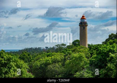 Mahabalipuram lighthouse near Chennai, India - Stock Image