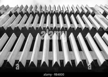 Abstract architecture minimal concrete exterior in black and white - Stock Image