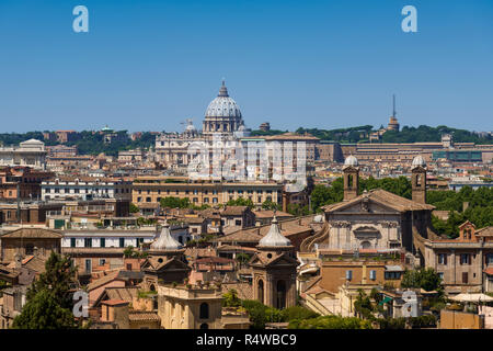 View of St Peter's Basilica, Rome, Italy - Stock Image