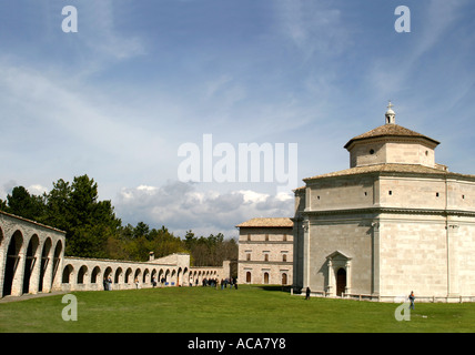 Santa Maria del Macerata is a famous pilgrimage site  in Le Marche, Italy - Stock Image