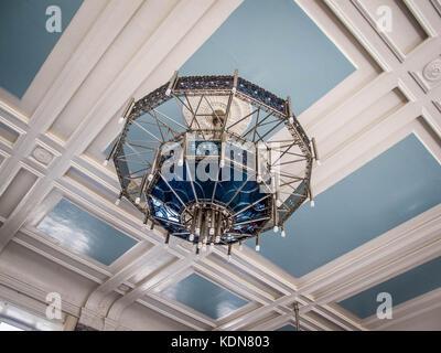 PERM, MAI 25: L'interieur de la gare de Perm est d'epoque Art-Deco, le 25 mai a Perm, Russie - Stock Image