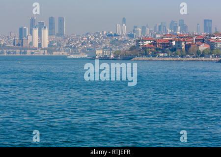 Cityscape of Istanbul, Turkey from Bosphorus - Stock Image