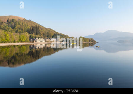 Early spring morning - Luss, Loch Lomond, Scotland, UK - Stock Image