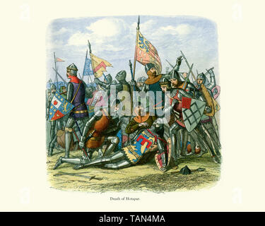 Death of Henry Hotspur Percy the eldest son of Henry Percy, 1st Earl of Northumberland. Hotspur led a rebellion against Henry IV in 1403, forming an a - Stock Image