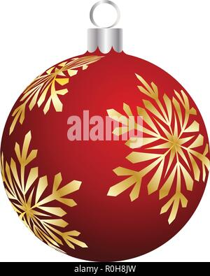 Christmas (New Year) ball. Color on white.  Vector illustration. - Stock Image