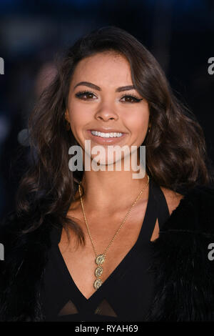 London, UK. 12th Mar, 2019. LONDON, UK. March 08, 2019: Vanessa Bauer arriving for the premiere of 'The White Crow' at the Curzon Mayfair, London. Picture: Steve Vas/Featureflash Credit: Paul Smith/Alamy Live News - Stock Image