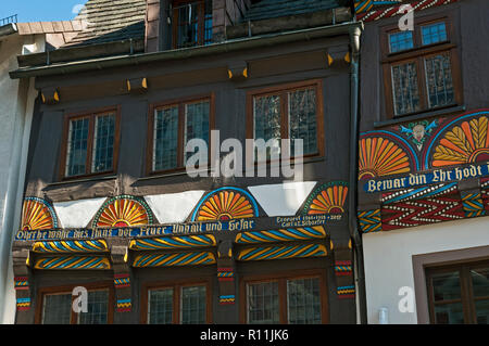 Decorative Half timbered houses in Höxter, NRW, Germany. - Stock Image