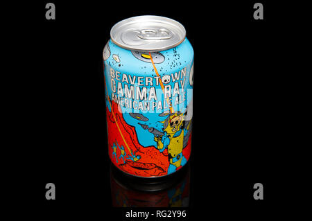 Beavertown Beer Gamma Ray American Pale Ale Can - Stock Image