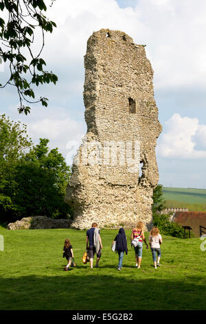 Ruins of Bramber Castle (Norman), Bramber village, West Sussex, England, UK. - Stock Image