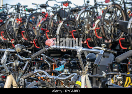 Cycle park in Amsterdam, The Netherlands - Stock Image