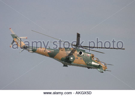 Hungary Air Force Mil Mi 24, Rivolto Italia Air show 2005 - Stock Image