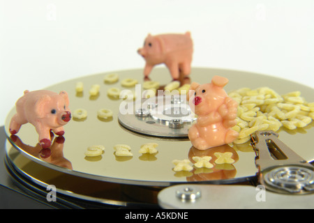 Symbolic image for pornography on the hard disc (porn movie, porn pictures ...) - Stock Image