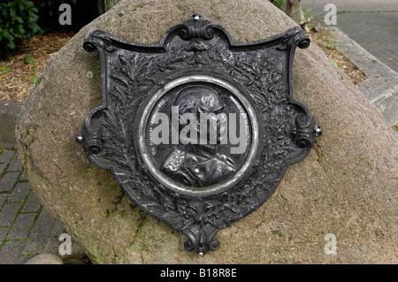 historical plaque goslar harz mountains germany deutschland - Stock Image