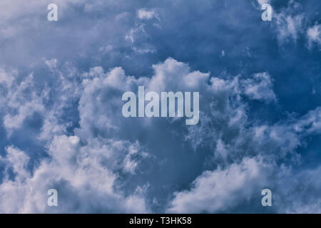 The sky is covered with storm clouds. - Stock Image