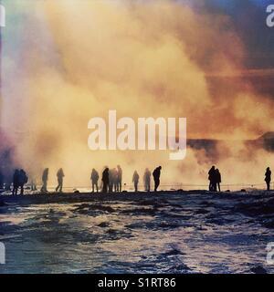 Iceland Geysir hot springs - Stock Image