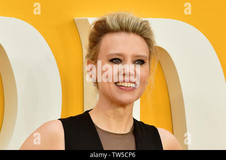Kate McKinnon attends the UK Premiere of 'Yesterday' at the Odeon Luxe in Leicester Square, London, England. - Stock Image