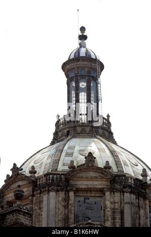 Detail of the Dome of the Metropolitan Cathedral, Zocalo Square, Plaza de la Constitucion, Mexico City, Mexico - Stock Image