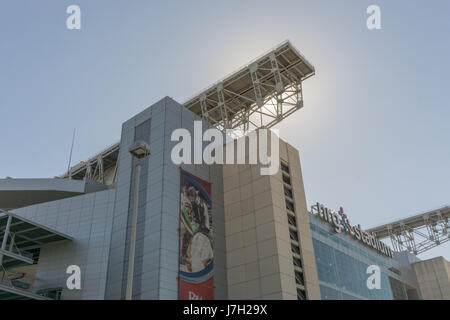 Sun shines over NRG stadium - Stock Image