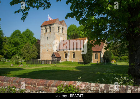 The Parish Church of St. Bartholomew in Fingest, Buckinghamshire, part of the Chilterns AONB. - Stock Image