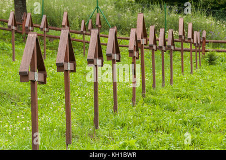 First World War cemetery in Hostovice, Slovakia - Stock Image