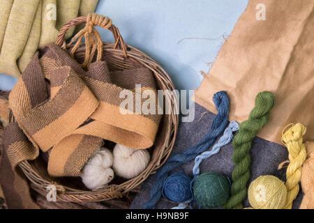 Weaving yarns - Stock Image