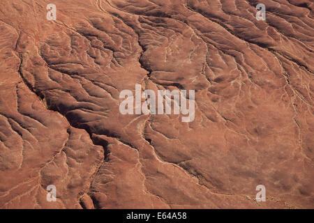 Dried river bed, Namib Desert, Namib Naukluft Nat Pk, Namibia - Stock Image